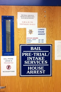 Bail Area at Clark County Detention Center