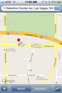Las Vegas Jail Location